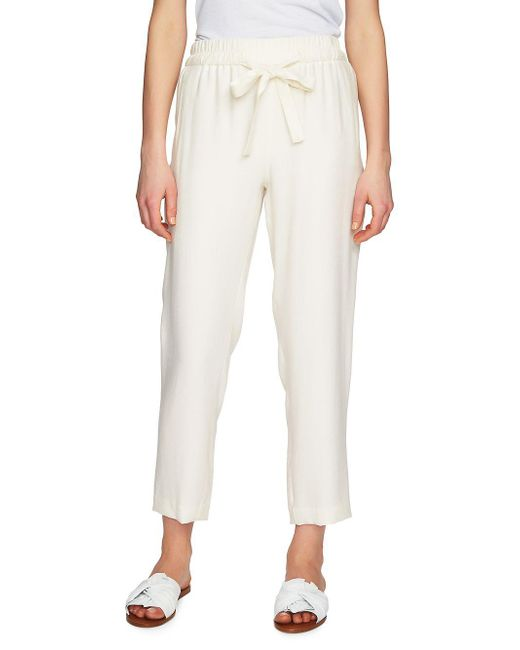 1.STATE - White Flat-front Tapered-leg Pants - Lyst