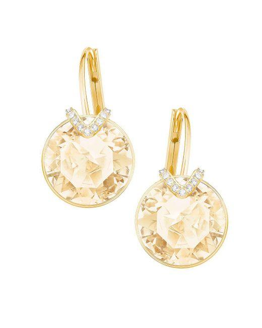 Swarovski - Metallic Bella Large V Pierced Earrings - Lyst