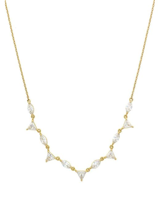 Jessica Simpson - Metallic Crystal Frontal Necklace - Lyst