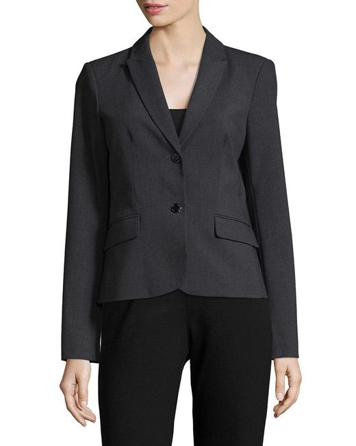 CALVIN KLEIN 205W39NYC - Black Two Button Blazer - Lyst