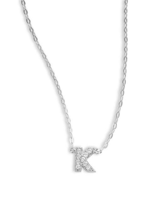 Nadri - Metallic Sterling Silver K Initial Necklace - Lyst