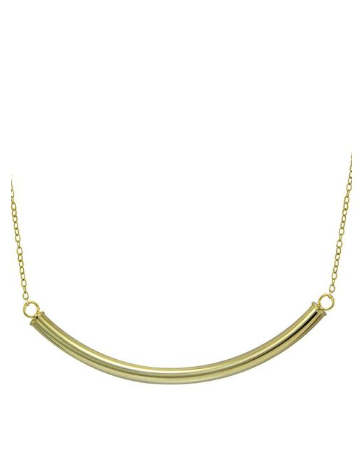Lord & Taylor - Metallic Gold Tone Curve Bar Necklace - Lyst