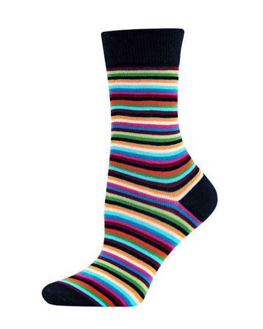 Hot Sox - Black Striped Trouser Socks - Lyst