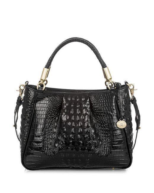Brahmin - Black Melbourne Collection Ruby Croco-embossed Shoulder Bag - Lyst