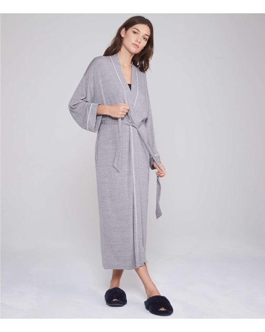 dfee6a5802 Lou   Grey - Gray Softened Jersey Robe - Lyst ...