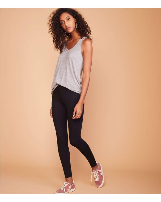 Lou & Grey - Black Ponte Leggings - Lyst