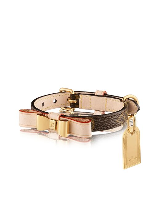 Louis Vuitton | Brown Baxter Xsmall Dog Collar | Lyst