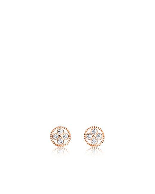 Louis Vuitton | Diamond Blossom Bb Ear Studs, Pink Gold And Diamonds | Lyst