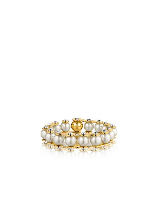 Louis Vuitton | Metallic Lv Speedy Pearls One-rank Bracelet | Lyst