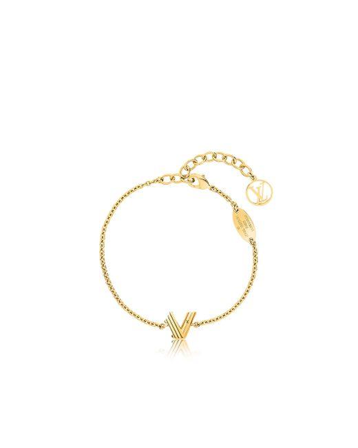 Louis Vuitton | Metallic Lv & Me Bracelet, Letter V | Lyst
