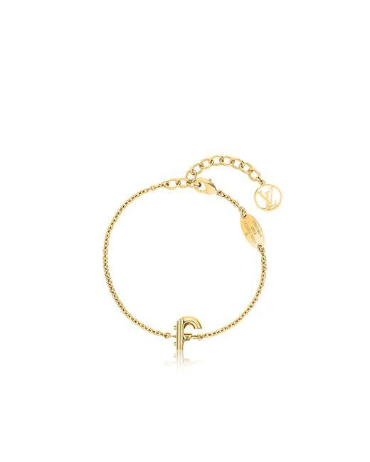 Louis Vuitton | Metallic Lv & Me Bracelet, Letter F | Lyst