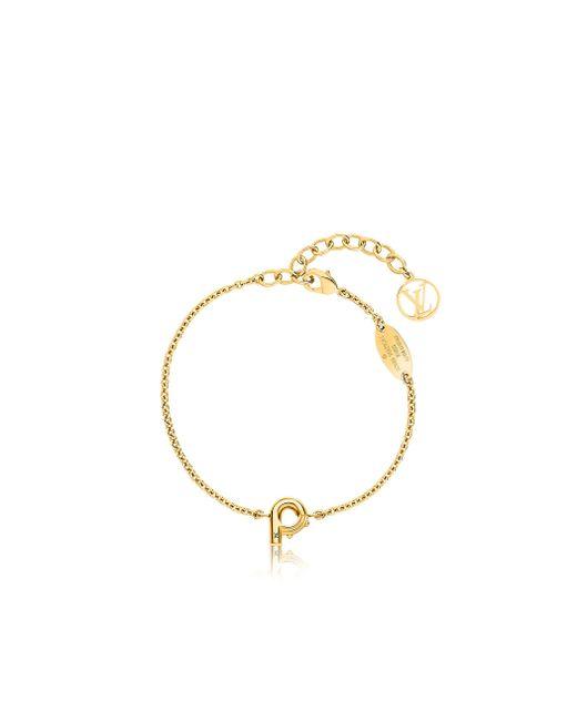 Louis Vuitton | Metallic Lv & Me Bracelet, Letter P | Lyst