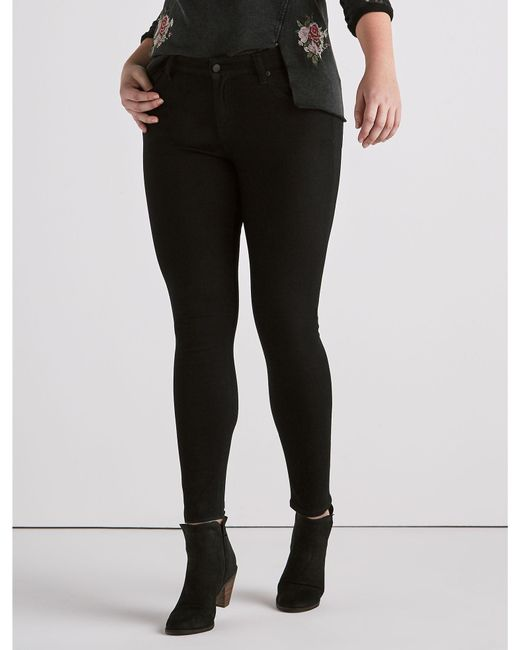 Lucky Brand - Black Plus Size Ginger Skinny Jean In Bell Road - Lyst