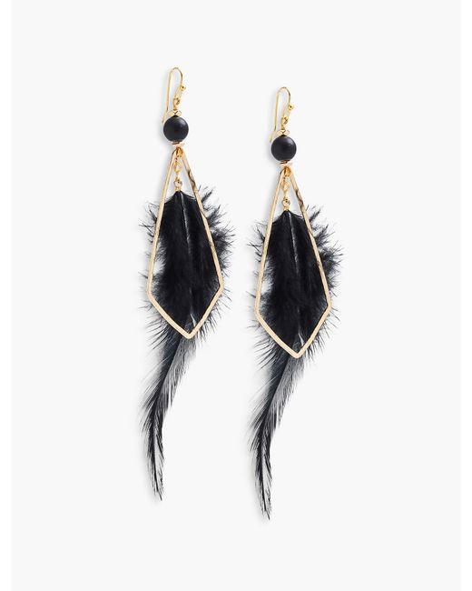Lucky Brand - Metallic Feather Earring - Lyst