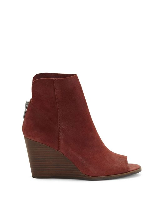 ... Lucky Brand | Red Urbi Wedge | Lyst ...
