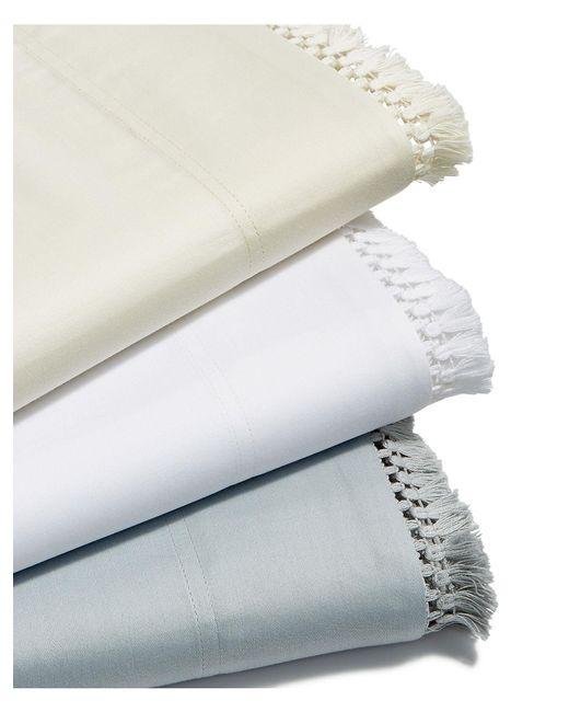 Lucky Brand - Natural Fringe White Full Sheet Set - Lyst