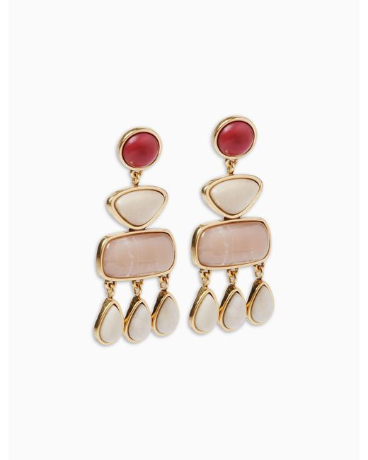 Lucky Brand - Metallic Stone Statement Earring - Lyst