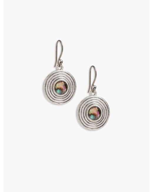 Lucky Brand - Metallic Set Stone Drop Earring - Lyst