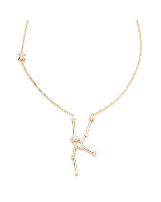 Lulu Frost - Multicolor Zodiacs 14k & Diamond Taurus + Earth Necklace - Lyst