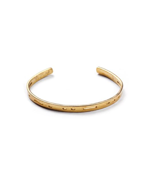 Lulu Frost - Multicolor George Frost Morse Code Dot Dash Brass Cuff - Unite for Men - Lyst