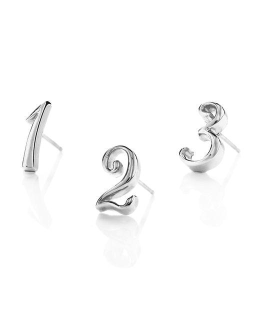 Lulu Frost - Metallic Code Number Earring - Silver - Lyst