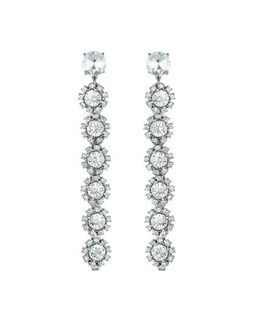 Lulu Frost - Metallic Beam Drop Earrings - Clear - Lyst