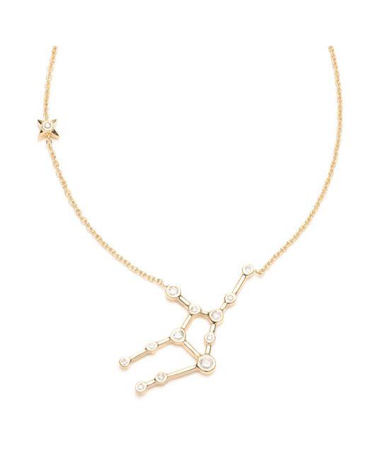 Lulu Frost - Multicolor Zodiacs 14k & Diamond Virgo + Earth Necklace - Lyst