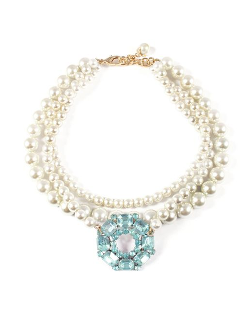 Lulu Frost - Metallic Vintage Pearl Collage Necklace 8 - Lyst