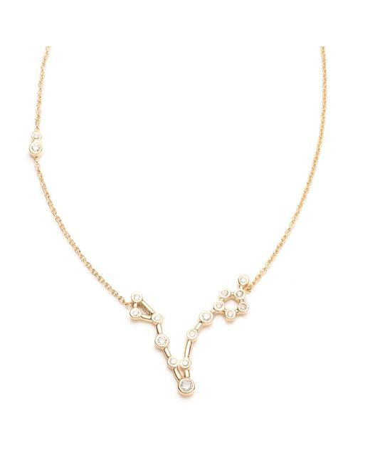Lulu Frost - Multicolor Zodiacs 14k & Diamond Pisces + Water Necklace - Lyst
