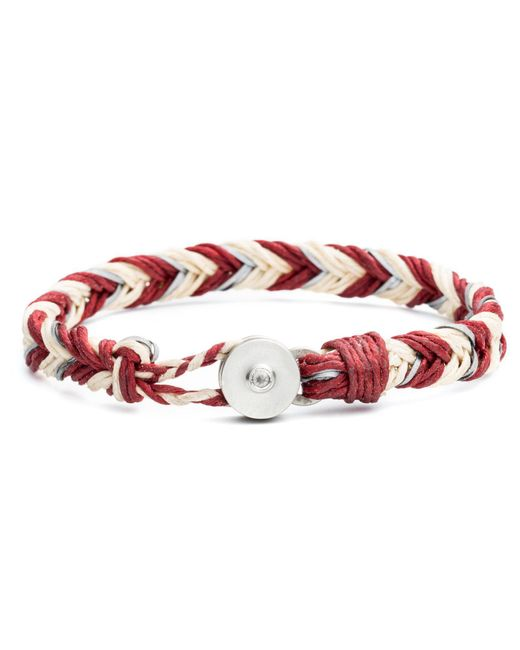 Lulu Frost - Multicolor George Frost Woven Reflective Bracelet - Red for Men - Lyst