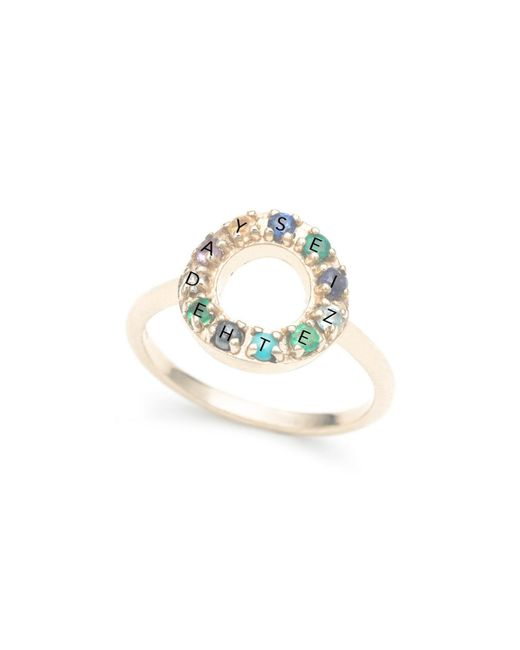Lulu Frost - Metallic Code 10k 'seize The Day' Ring - Lyst