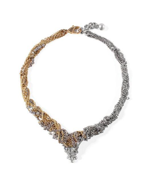 Lulu Frost | Metallic *vintage* G&s Mezze Necklace | Lyst