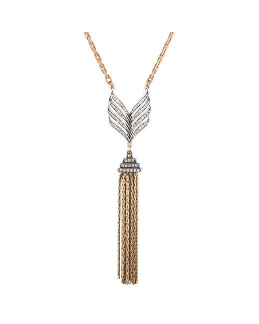 Lulu Frost | Metallic Symmetry Tassel Necklace | Lyst