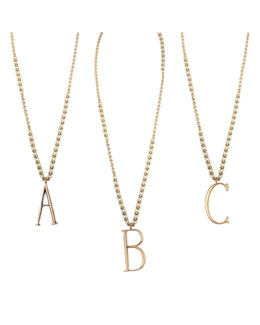 Lulu Frost | Metallic Plaza Letter Necklace - Mixed Chain | Lyst