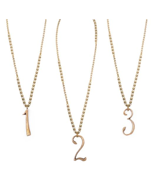 Lulu Frost | Metallic Plaza Number Necklace - Mixed Chain | Lyst