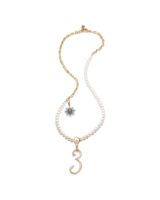 Lulu Frost - Multicolor Plaza White Pearl & Radiant Charm Necklace - Lyst