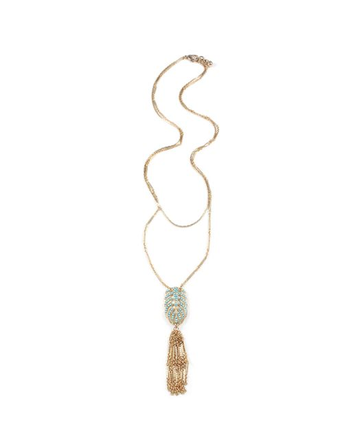 Lulu Frost - Multicolor Hibiscus Tassel Necklace - Turquoise - Lyst