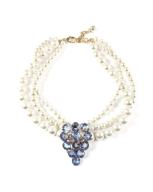 Lulu Frost - Metallic Vintage Pearl Collage Necklace 9 - Lyst