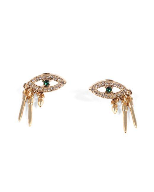 Lulu Frost - Metallic Discovery Eye Stud Earrings - Green - Lyst
