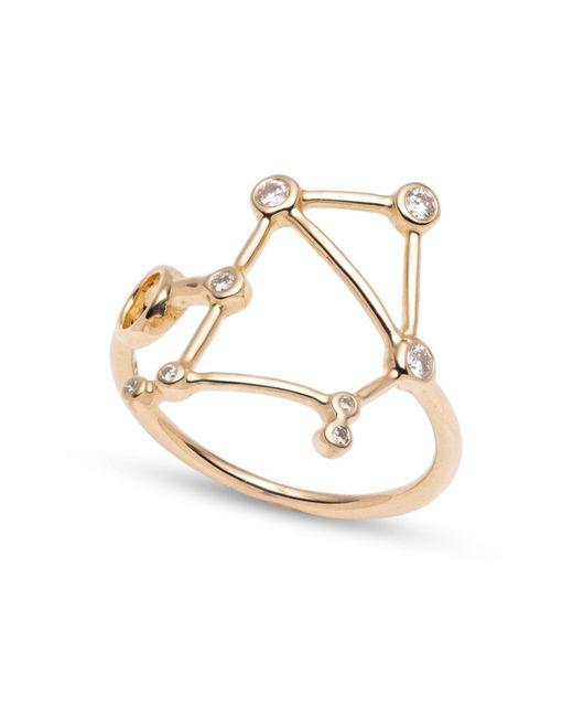 Lulu Frost - Metallic Zodiacs 14k & Diamond Libra + Air Ring - Lyst