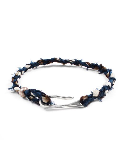 Lulu Frost - Blue George Frost Taros Bracelet - Teal/cream for Men - Lyst
