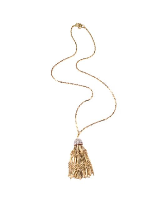 Lulu Frost - Metallic Cupola Long Tassel Necklace - Lyst