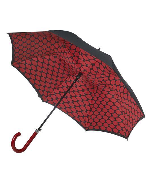 Lulu Guinness | Multicolor Lips Grid Bloomsbury Umbrella | Lyst