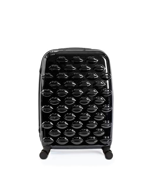 Lulu Guinness - Black Hard Sided Lips Medium Spinner Case - Lyst
