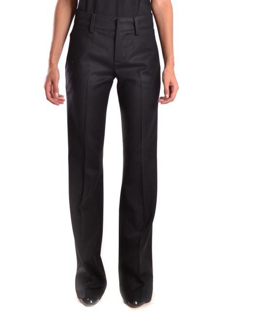 Dondup - Black Trousers - Lyst