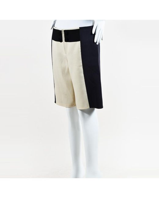 Marc Jacobs - Blue & White Wool Colorblock Shorts - Lyst