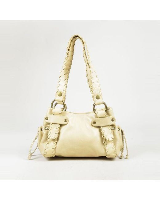 Kooba - Yellow Grained Leather Whipstitch Shoulder Bag - Lyst