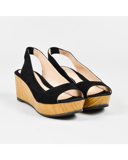 Fendi Peep-Toe Slingback Wedges buy cheap purchase free shipping shop offer Gwbw8