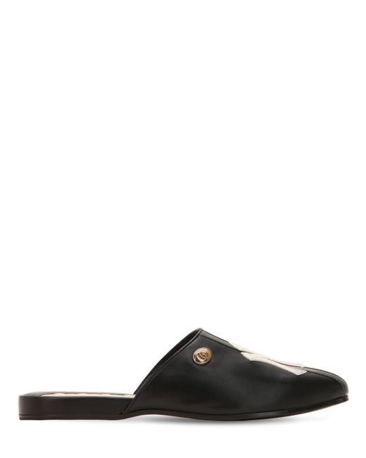 "Gucci - Black Zapatos Mules Con Detalle ""ny"" for Men - Lyst"