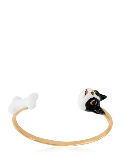 Nach | Metallic Dog & Bone Bracelet | Lyst